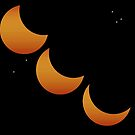Partial Solar Eclipse - October 2014 - The Trinity by Ann  Warrenton