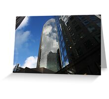 Cloud Reflections in the Windows Greeting Card