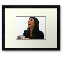 sad kim k Framed Print