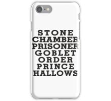 Stone Chamber Prisoner Goblet Order Prince Hallows - Harry Potter Books, List of Harry Potter Books, Harry Potter Shirt iPhone Case/Skin