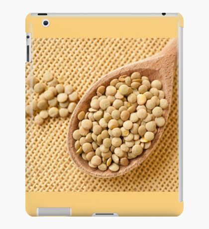 Green lentils grains  iPad Case/Skin