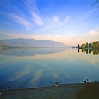 Lake Okanagan, Autumn Evening 1999 by Priscilla Turner