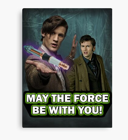 Use the Force, Doctor Jedi (Realistic) Canvas Print