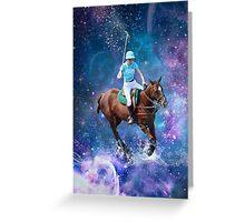 Horse Polo Galaxy Greeting Card