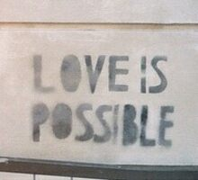 Love Is Possible  Sticker
