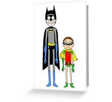BatRick and RobMorty Greeting Card