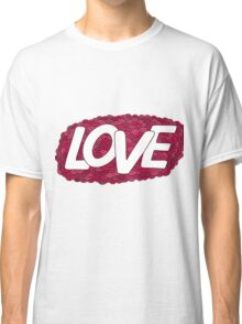 Love.Red Hand drawn doodle vector  illustration. Classic T-Shirt