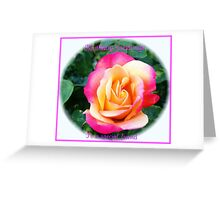 A Rose of Many Colours Birthday Card Greeting Card