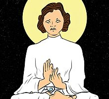 Leia as the Buddha by JaddicusFinch