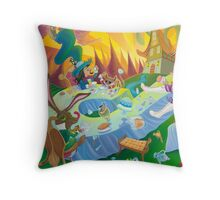 A mad tea-party - Hatter, March Hare and Dormouse (Pillows & Totes) Throw Pillow