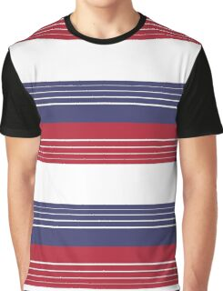 U.S. Flag - Red | White | Blue Horizontal Stripes Graphic T-Shirt