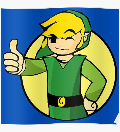 Vault Boy Zelda Poster