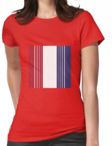 U.S. Flag - Red | White | Blue Vertical Stripes Womens Fitted T-Shirt
