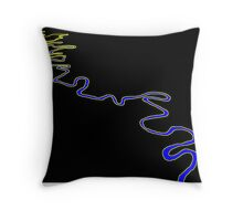 Meandering River Throw Pillow