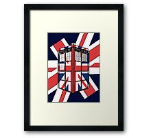 Type UK TARDIS Framed Print