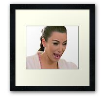 sad kim k pt. 2 Framed Print