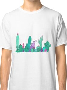 Watercolour Cacti and Succulents Classic T-Shirt