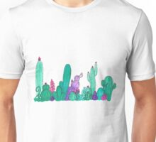 Watercolour Cacti and Succulents Unisex T-Shirt