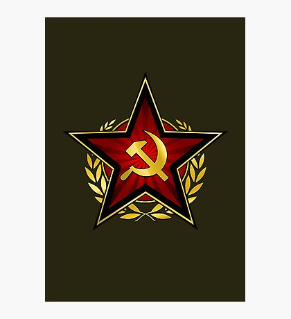 Russian Red Star Photographic Print