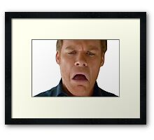dex omg face Framed Print