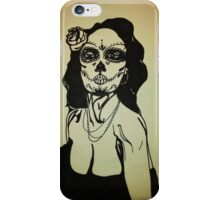 Sugar Skull Girl 1 iPhone Case/Skin