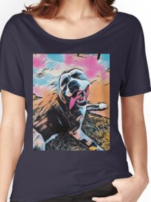 Comic Layla - American Staffordshire Terrier, Pit Bull, Rescue Women's Relaxed Fit T-Shirt