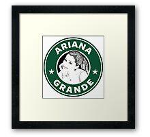 Ariana Grande - Starbucks Framed Print