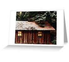 Miner's Cabin Greeting Card