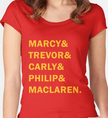 Travelers - Marcy & Trevor & Carly & Philip & MacLaren Women's Fitted Scoop T-Shirt