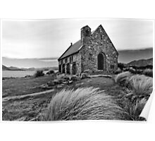 Church of the Good Shepherd (bw) Poster