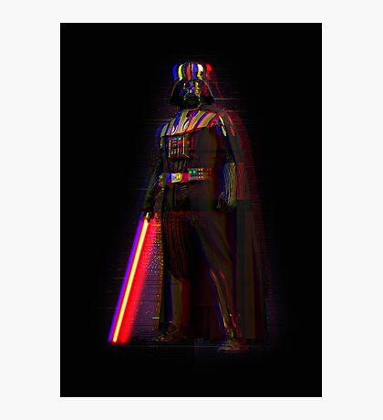 Glitch Vader Photographic Print
