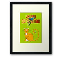 Happy Christmas in Red Framed Print