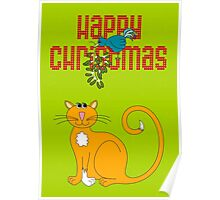 Happy Christmas in Red Poster