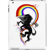 Lord Rainbow Kicker (black) iPad Case/Skin