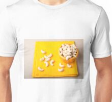 Top view on natural and healthy cashews for raw foodists Unisex T-Shirt