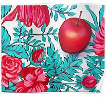 Rosy Apple Poster
