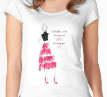 Cinderella shoes Women's Fitted Scoop T-Shirt