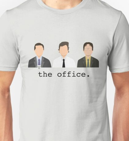 Jim, Dwight, Michael- The Office Unisex T-Shirt