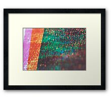 layers of color - zero Framed Print
