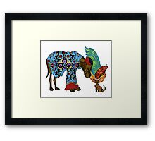 Top Hat and Tails Framed Print