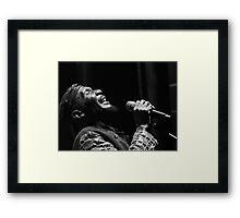 The wonderful Jimmy Cliff 4 (n&b)(t) by expressive photos ! Olao-Olavia by Okaio Créations  Framed Print