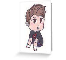 Peter Parker deadpool Pjs Greeting Card