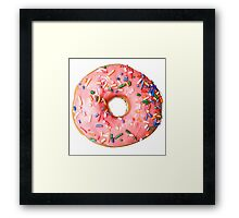 a real donut Framed Print