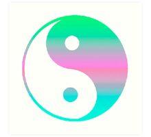 Digi Yin Yang  Art Print
