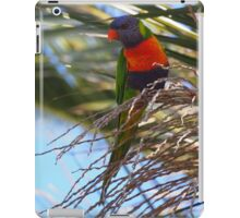 Australian Rosella High Up In A Palm Tree iPad Case/Skin
