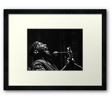 The wonderful Jimmy Cliff 6 (n&b)(t) by expressive photos ! Olao-Olavia by Okaio Créations  Framed Print