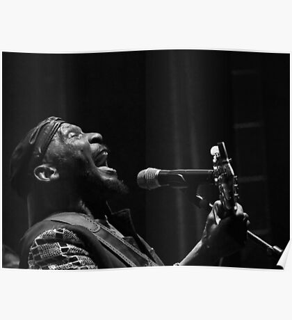 The wonderful Jimmy Cliff 6 (n&b)(t) by expressive photos ! Olao-Olavia by Okaio Créations  Poster