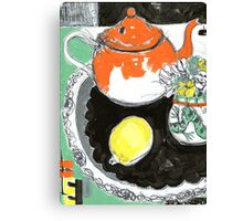 studio tea 3 Canvas Print