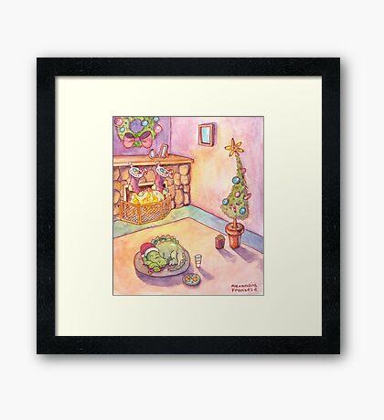 Gator Christmas Framed Print