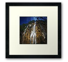 Plitvice, Waterfall II.  Framed Print